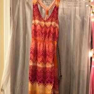 Pink and Orange Maurice's summer dress